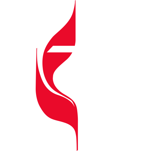 United Methodist Church logo reversed